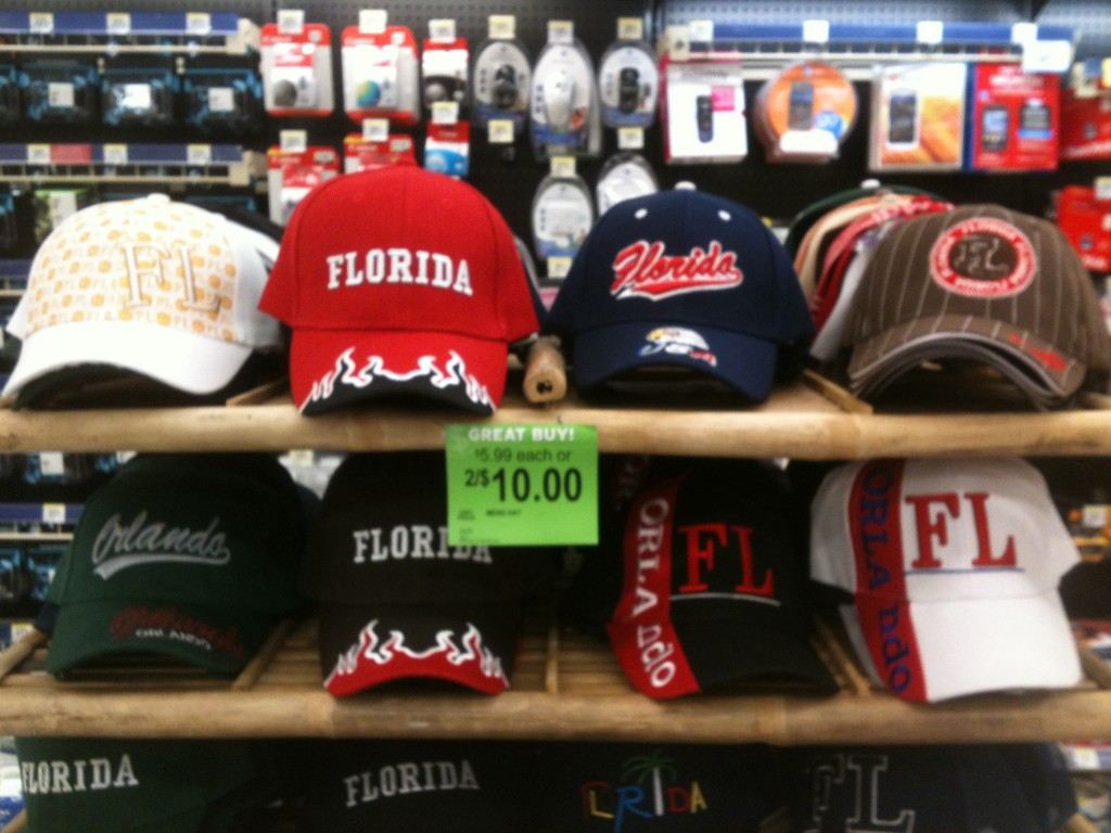 All Walmarts are the same... just the college/pro ballcaps change